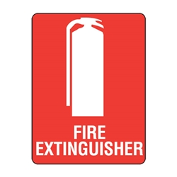 Fire Extinguisher Poly Sign 225x150mm