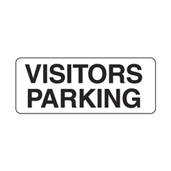 Visitor Parking Metal Traffic Sign 450x300mm