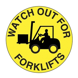 Watch Out for Forklifts Floor Graphic