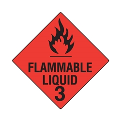 Hazchem Flammable Liquid 3 Poly Sign 270 x 270mm