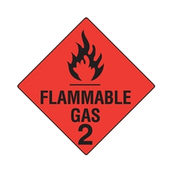 Hazchem Flammable Gas 2 Poly Sign 270 x 270mm