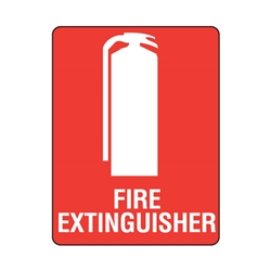 Fire Equipment Sign Fire Extinguisher W