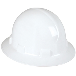 UniSafe® ABS Type 2 Polycarbonate Wide Brim Safety Helmet White TA440