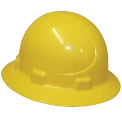 UniSafe® ABS Type 2 Polycarbonate Wide Brim Safety Helmet Yellow TA440