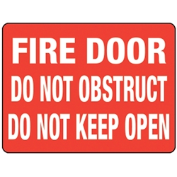Fire Door Do Not Block Poly Sign 300 x 225mm