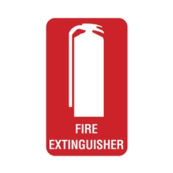 Fire Extinguisher Poly Sign 300 x 225mm