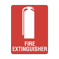Fire Extinguisher Emergency Sticker 90 x 55 10 pk
