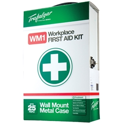 Trafalgar WM1 Workplace Wall Mount Metal Case First Aid Kit 101560