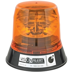 Vision Alert 3 Bolt Amber Beacon Midi Less Bulb