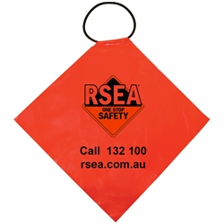 RSEA Flag Oversize Oversize Flag 400mm PVC with Elastic Tie On W Colour Logo