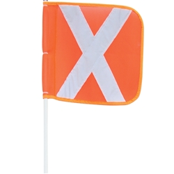 On Site Safety 1200mm Mining Flag Set MF120QS
