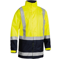Bisley Taped Two Tone Hi-Vis Rain Shell Jacket