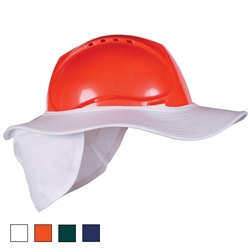 Blue Rapta Hard Hat Brim with Neck Flap