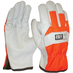 Blue Rapta Hi Vis Backed Leather Rigger Gloves