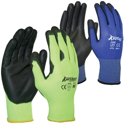 Blue Rapta Sensei Hi-Tact PU Palm Grip Gloves