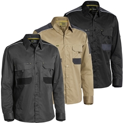 Bisley FLEX & MOVE™ Mechanic Long Sleeve Shirt