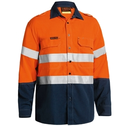 Bisley Tencate Tecasafe® Plus 580 Taped 2-Tone Hi-Vis FR Vented Lightweight Shirt
