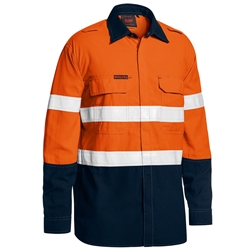 Bisley Tencate Tecasafe® Plus 400 Taped 2-Tone Hi-Vis FR Vented Lightweight Shirt
