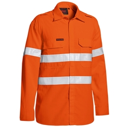 Bisley Tencate Tecasafe® Plus 480 Taped Hi-Vis FR Vented Lightweight Shirt