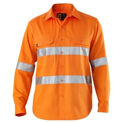 ELEVEN Workwear Hi-Vis 3M™ Taped L/S Drill Shirt