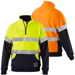 ELEVEN Workwear Evolution Hi-Vis Spliced Jumper w/ Stretch 3M™ Tape