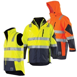 ELEVEN Workwear Waterproof 4 in 1 Jacket Set w/ 3M™ Tape