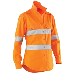 ELEVEN Workwear Women's AeroCOOL Hi-Vis Perforated 3M™ Taped L/S Shirt
