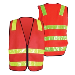 Green Triangle VIC Roads Style Safety Vest