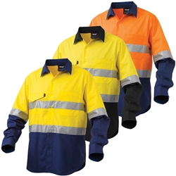 KingGee Workcool2 Hi-Vis Reflective Spliced Shirt