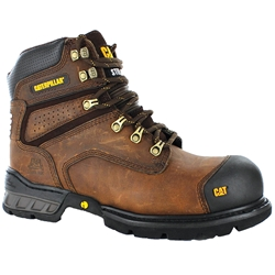 CAT® Brakeman Dark Brown Z/Sided Steel Toe Safety Boots