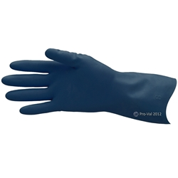Pro-Val Process Blues Lined Rubber Gloves