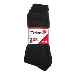 Telas Cotton/Poly Socks (Pk 3)