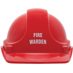 UniSafe Red Fire Warden Specialty Safety Helmet
