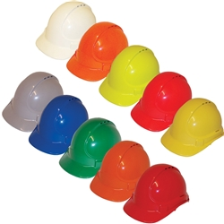 UniSafe® Vented Type 1 ABS Plastic Safety Helmets TA570