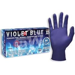 SW Safety Solutions Violent Blue™ N00524 X5 Nitrile Powder-Free Exam Gloves (Bx 100)