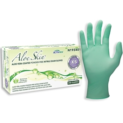 SW Safety Solutions AloeSkin® N19340 Nitrile Powder-Free Exam Gloves (Bx 200)