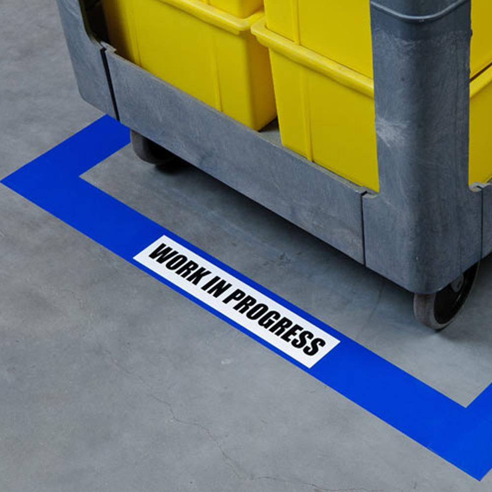 Brady 174 Toughstripe 30m X 76mm Blue Floor Marking Tape 872443