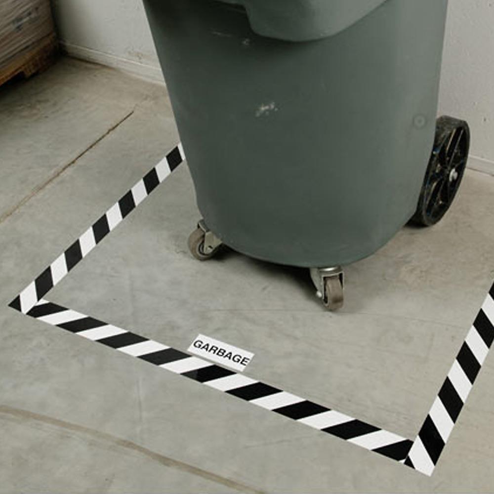Brady 174 Toughstripe 30m X 76mm Black White Floor Marking