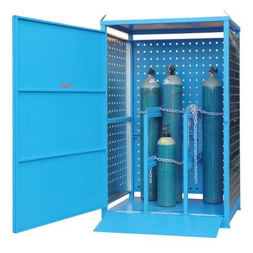 Storemasta Single Sided 12 Cylinder Gas Cylinder Storage Cage AG6SS