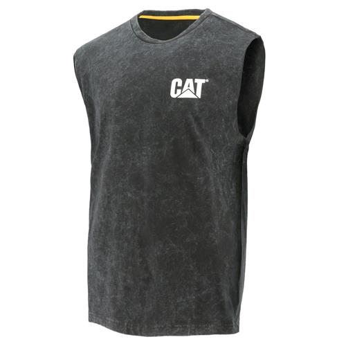 CAT® Workwear Muscle Tee with Enzyme Wash Black 1510412