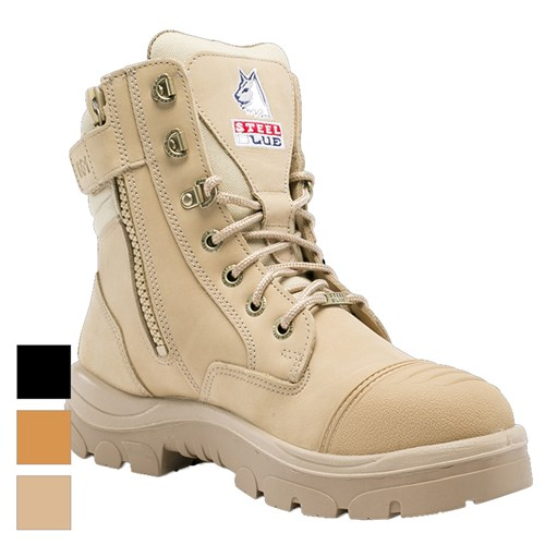 attractive & durable latest sale classcic Steel Blue Southern Cross 150mm Z/Sided Safety Boots w/ Scuff Cap 312661