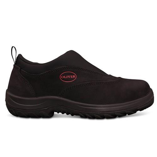 Oliver Black Slip On Safety Sport Shoes