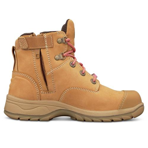 Wheat Zip Sided Safety Boots 49-432Z