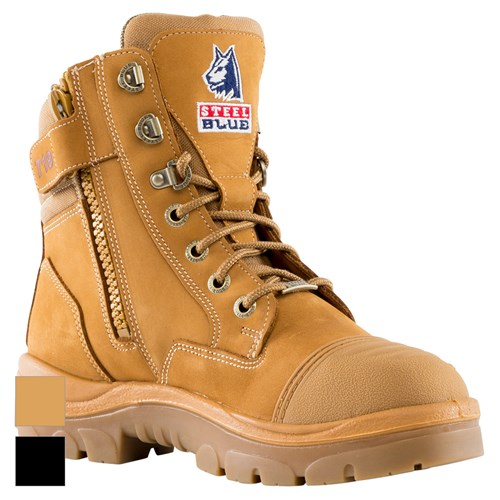 Zip Steel Toe Scuff Cap Safety Boots 512719