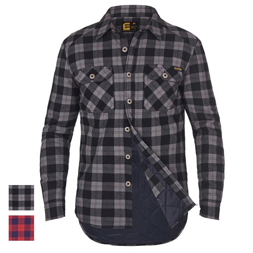 Casual Lumberjack Padded Quilted PPE Checked Warm Winter Work Shirt 117