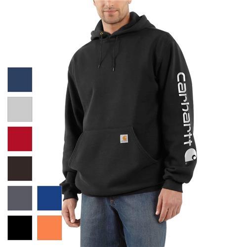 da05346e718 Carhartt Midweight Sleeve Logo Hooded Sweatshirt K288