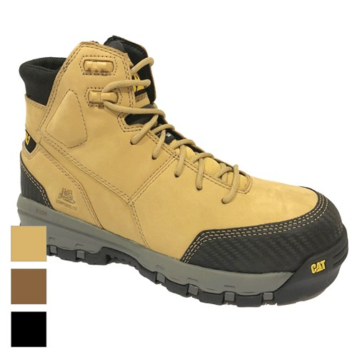 Cat Footwear Device Zip Sided Waterproof Safety Boot