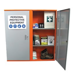 Storemasta PPE Double Door 3-Shelve Storage Cabinet SPP3