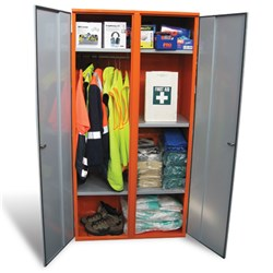 Storemasta PPE 4-Shelve Double Door Storage Cabinet SPP1