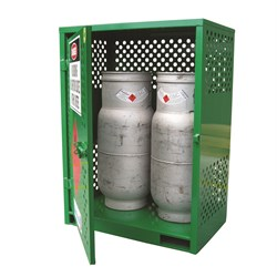 Storemasta Forklift Gas Bottle Storage Cage 2 Bottles GF02